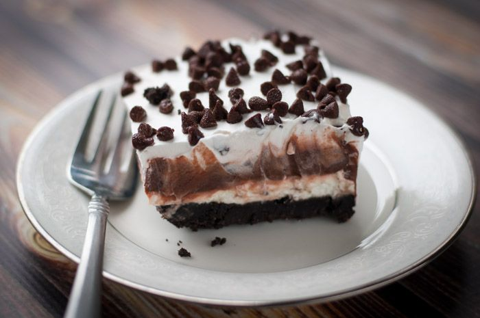 Irresistible chocolate layers with cream cheese, whipped cream, and chocolate chips. A Chocolate Lasagna recipe for true chocolate lovers!