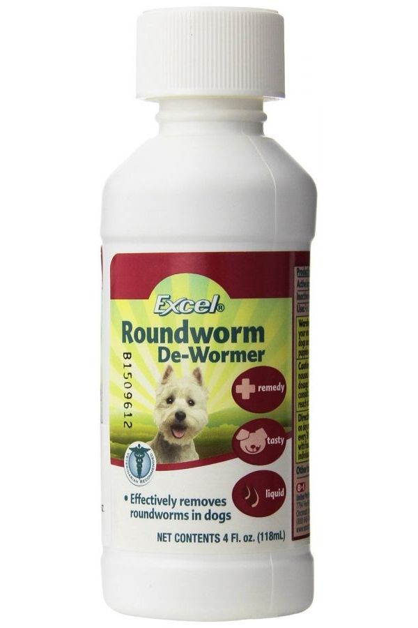 8in1 Excel Roundworm De Wormer Liquid For Dogs Roundworm Wormer