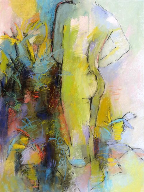 Abstract Figure, 30x22 pastel on Rives BFK paper by Debora L. Stewart.