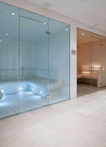 Sauna & Steam Room for the home. // Could do with this right here, right now. - Ray