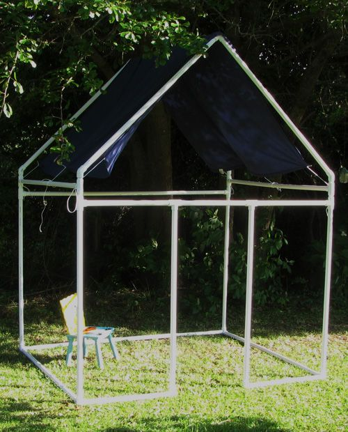 Picture of Fast and Easy, PVC Kids Fort (for under $60)