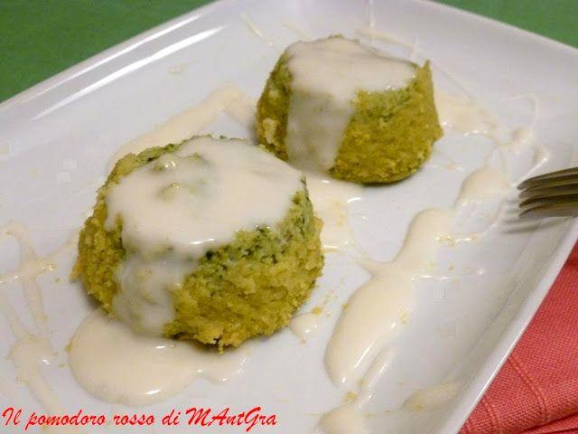 Il Pomodoro Rosso di MAntGra: Sformatini di broccoli con fonduta di gorgonzola
