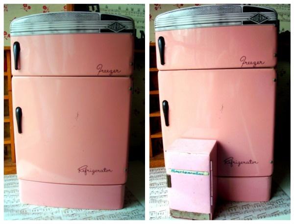 Kitchen Ideas With Hot Pink Retro Fridge