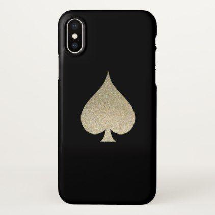 Glitter Spade Symbol iPhone X Case - glitter gifts personalize gift ideas unique