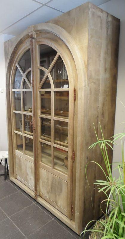 Eiken Kast Met Gebogen Deurdelen Topper Meubels Ab Wooddesign