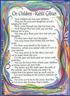 kahlil gibran quote about children - Google Search