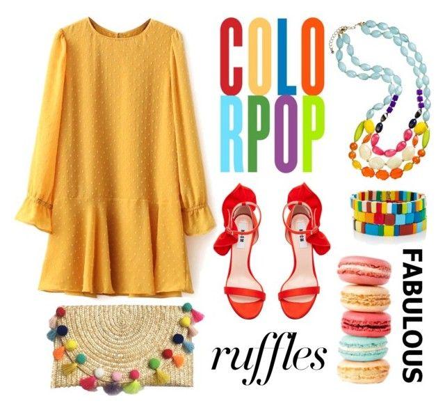 """Fabulous Ruffles"" by youaresofashion ❤ liked on Polyvore featuring MSGM, Roxanne Assoulin, ruffles and RuffLyfe"