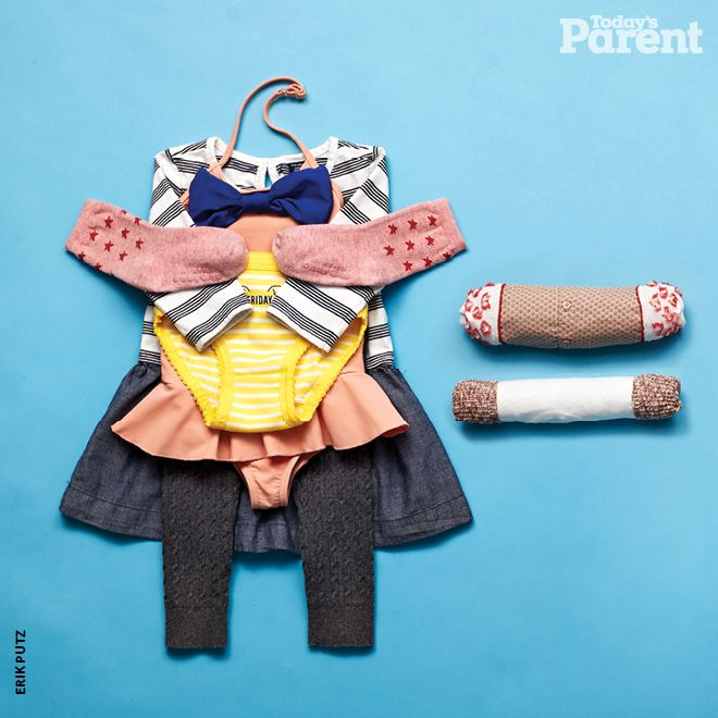 This simple six-step method will get all your kids' clothes into their suitcases, with room to spare!