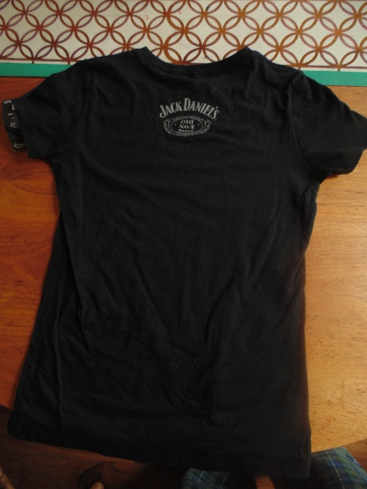Womens Jack Daniels No 7 Brand Whiskey 2012 Sturgis Bike Rally T-Shirt Black