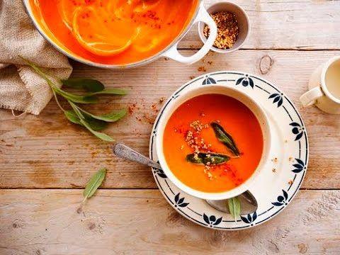 Alpro | Inspiratie voor recepten | Soep van gegrilde paprika en pastinaak met gepofte quinoa