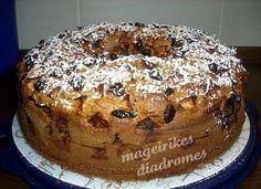 Κέικ με μήλο και κράμπερις