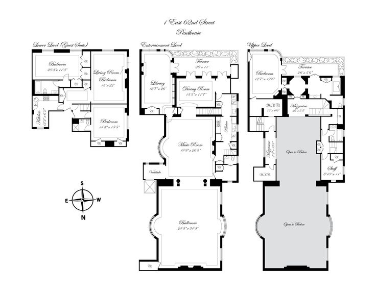 New York penthouse made from turn of century guilded age Drexel mansion. 1  East 62nd