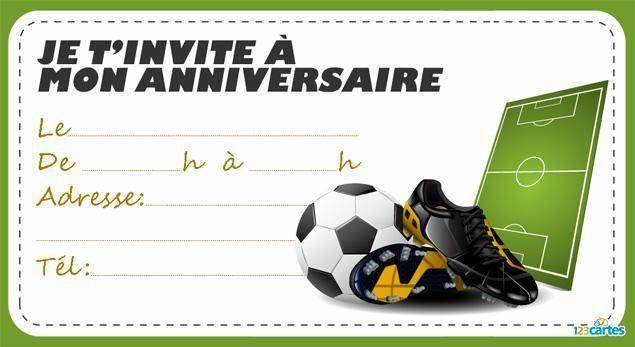 carte invitation anniversaire foot invitation anniversaire chaussures à crampons | Carte invitation