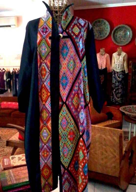 my Buna tenun coat, by Batik Chic