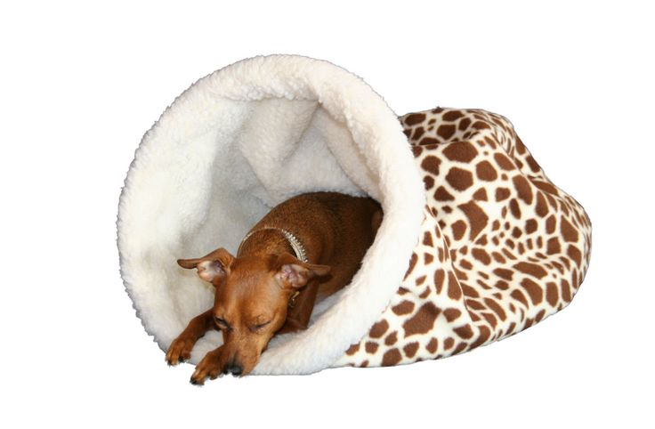 Burrow Beds Cozy cave dog bed chihuahua bed dachshund bed GIRAFFE. $34.95, via Etsy.