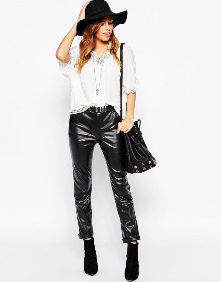 Sexy Faux Leather Leggings - Homoana