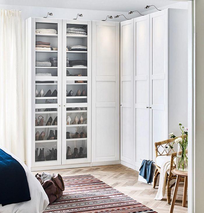 Elige un armario esquinero #Ikea para aprovechar mejor el espacio ...