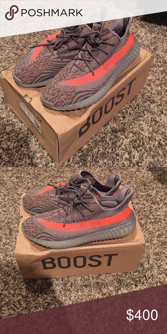 Yeezy boost 350 v2 size 12.5 For sale is a pair of Yeezy boost 350 with box, size 12.5. The box is slightly crushed where I kept them but the shoes are perfect. Feel free to make offers! Yeezy Shoes Sneakers