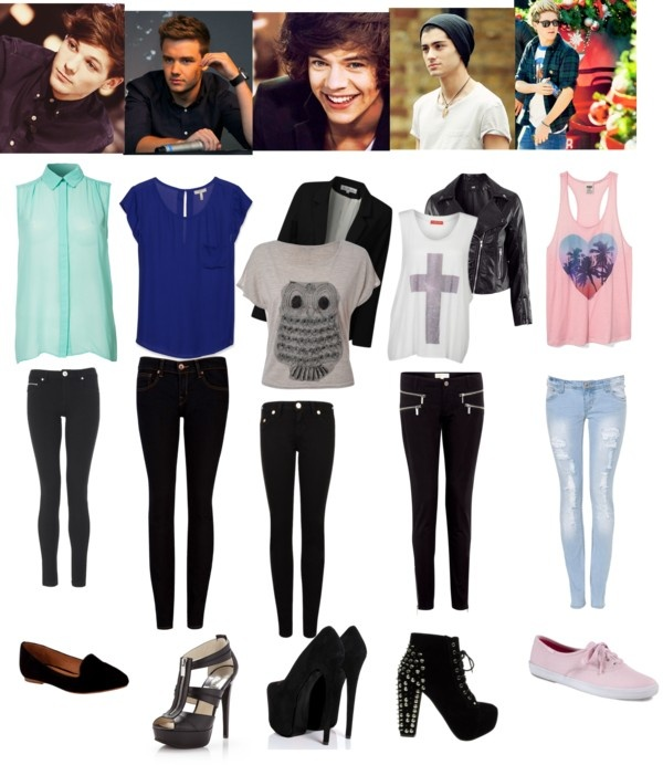 """""""which 1D guy will you prefer to go out with? (chose by your favorite outfit!)"""" by lologym-love1d-littlemix ❤ liked on Polyvore"""