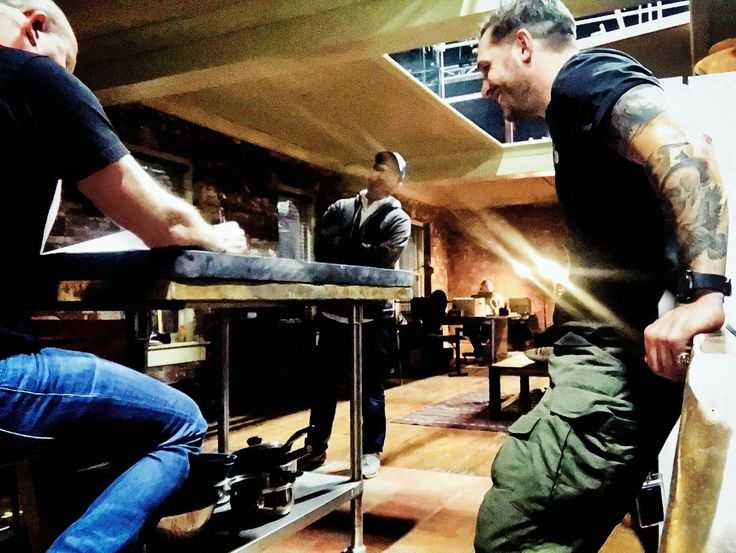 Venom : First Photo Shows Tom Hardy On Set.