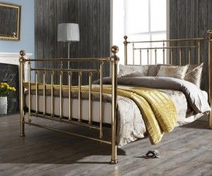 create a stunning focal point in your bedroom with the serene solomon brass bed frame