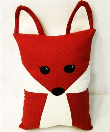 Kids Sleep and Red Fox Pillow Buddy, Gift for Kids, Toys for Kids   This little fox pillow can be a play buddy, a sleep buddy, a tag along comfy pillow or most any kind of toy you want it to be.   This little pillow is 9 tall and 6 wide not including the ears.   Just the right size for little hands and arms to wrap around and hug.   This would make a great gift for any little one. If you like it but not the colors just let me know the colors you want and I can make it for you.      Have any…