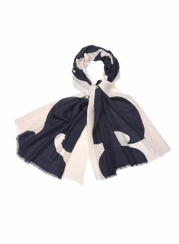 MARIMEKKO JOKERI SCARF NUDE, DARK GREY  #wool #abstract #geometric #organic #scarf #blush #balletpink #grey #marimekko #pirkkoseattle #pirkkofinland
