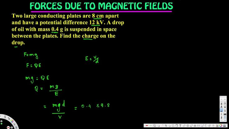 Find the charge on the drop. - Forces Due to Magnetic Fields - Electroma...