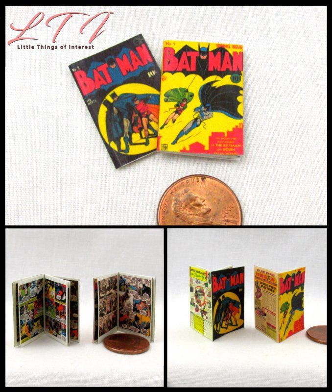 Dollshouse 1:12 scale OPENING PAGES 4 Miniature  /'The Flash/'   Comics