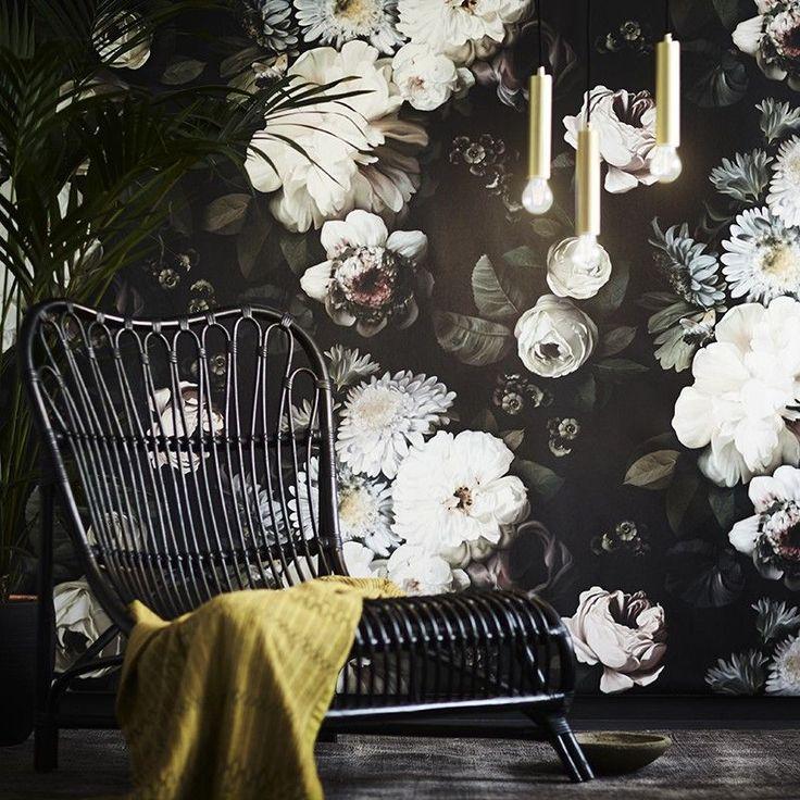 """Les papiers-peints """"dark floral"""" par Ellie Cashman - Dark Floral"""