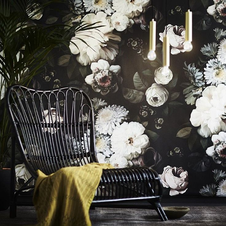 Dark Floral Wallpaper | Ellie Cashman design