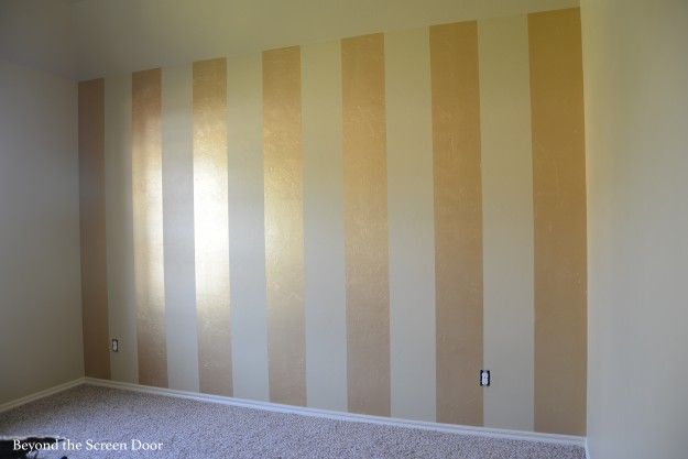 Painting Gold & Silver Metallic Stripes | Beyond the Screen Door