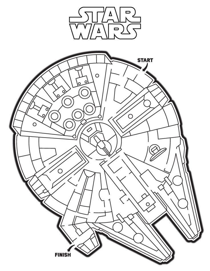 Millennium Falcon Maze printable worksheet