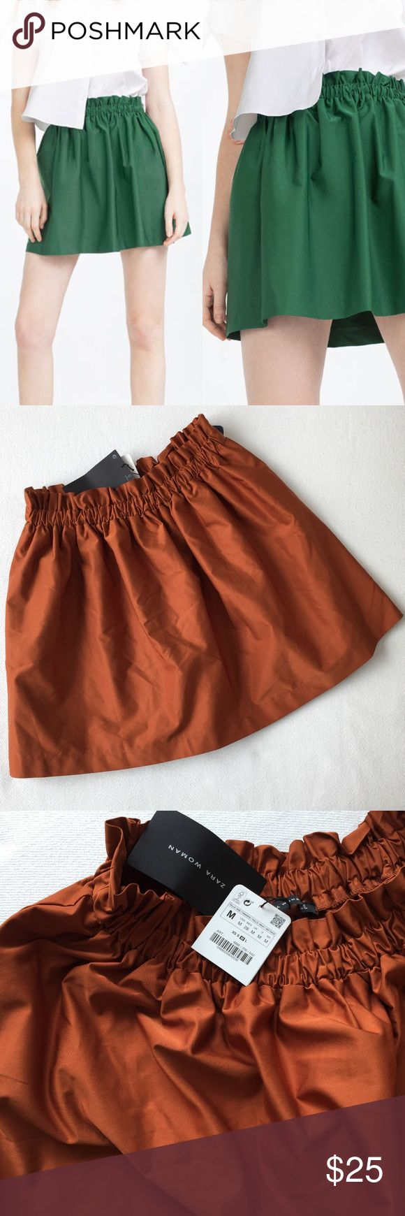 "Zara Women's Mini Skirt 🌷Please Read the description! Thanks!🌷  Brand new with tag Size: M Measurements: waist 13 3/4""(very stretchable), length 16 3/4"" Color: Camel Color may be slightly different bcz of lighting  🌷Price is FIRM unless bundled 🌷NO Trades         🌷NO Holds 🌷All sales are final Welcome product-related questions! You are responsible for your size. Zara Skirts Mini"