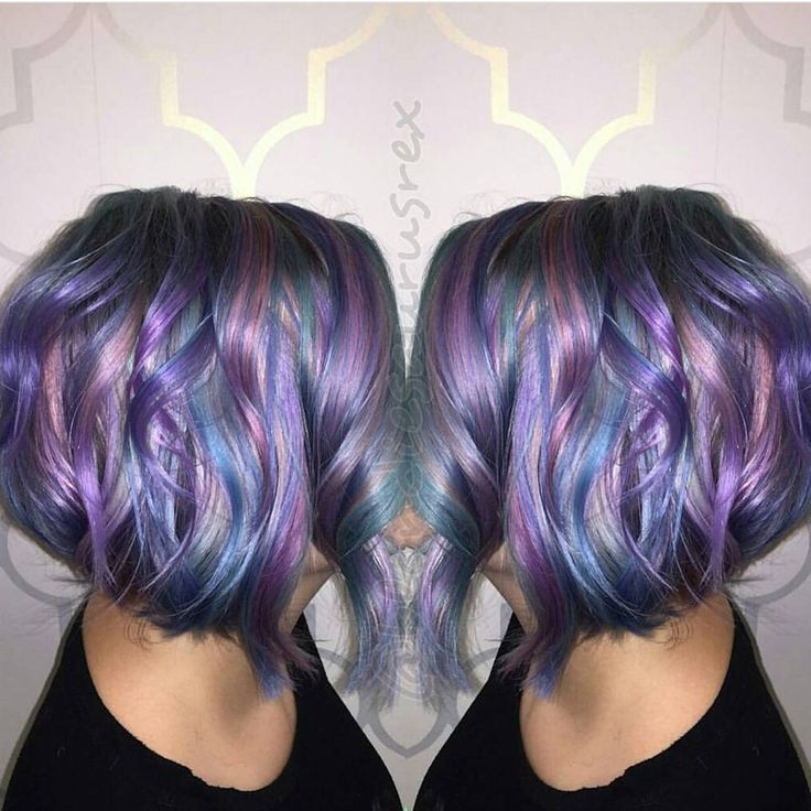 Love this colorful lob haircut and hairstyle  that is