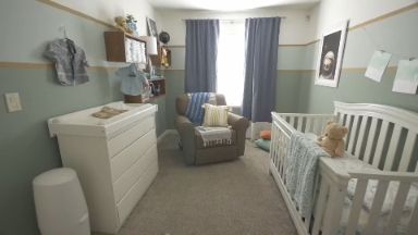 Cosmic Nursery Makeover — Create a comfy, warm gender-neutral nursery with just a few easy design touches. Brought to you by HGTV and @Shawfloors.