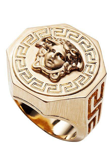 VERSACE | Chevalière Medusa et Grecque | Bijoux | Hommes | Acheter sur le site fr.versace.com - Boutique en Ligne Officielle (€130.00) - Svpply