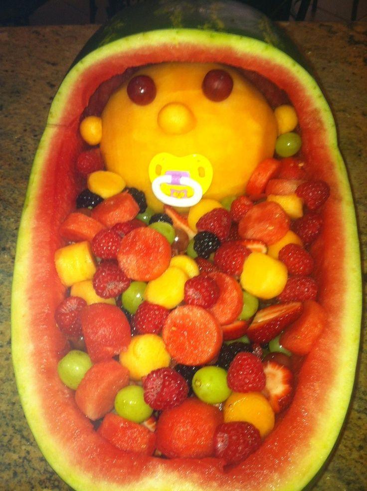 Watermelon Fruit Basket   Watermelon Bassinet Fruit Basket