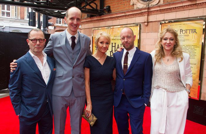 Harry Potter creative team: Colin Callender, Jack Thorne, JK Rowling, John Tiffany and Sonia Friedman.