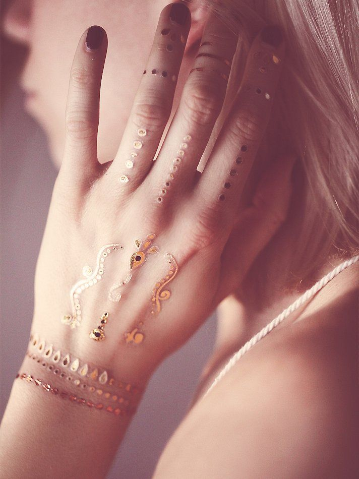 Wanderlust Metallic Tattoo Pack Accessories Pinterest