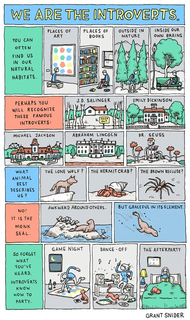 We are the Introverts – par Grant Snider