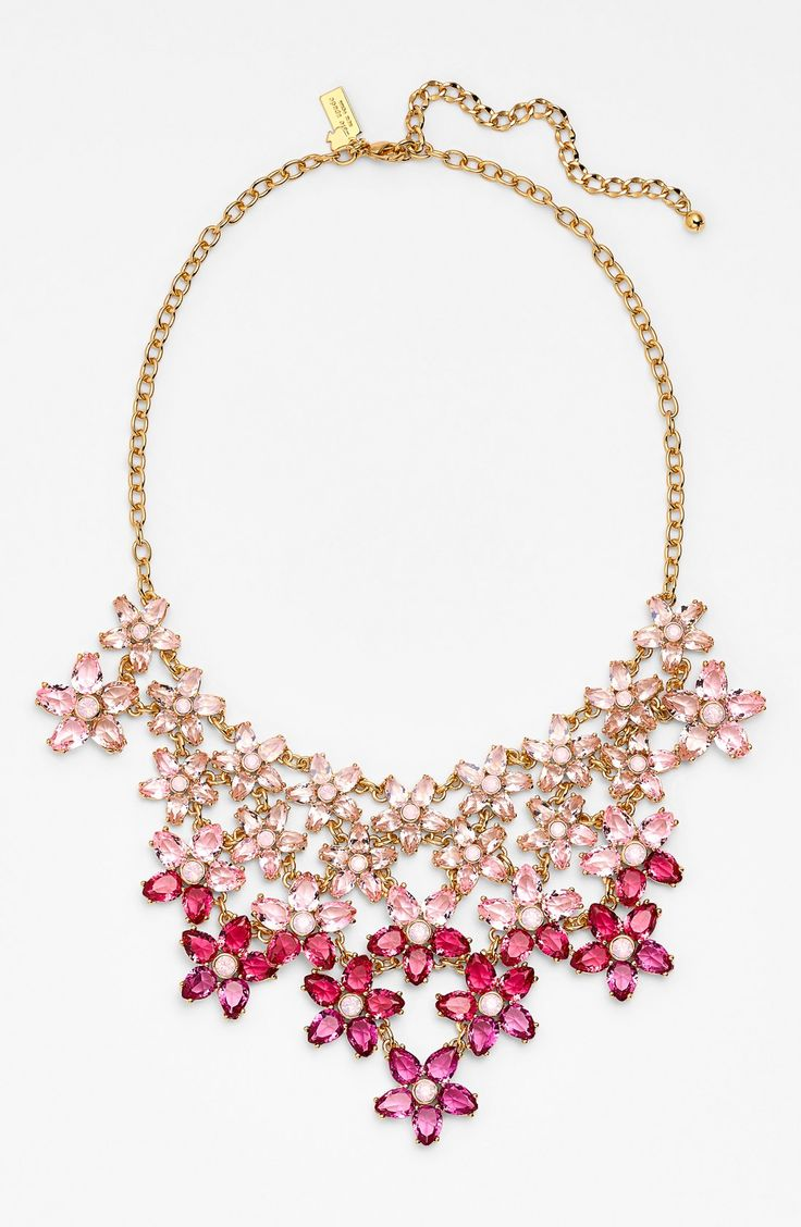 In love with sparkly crystals. This Kate Spade statement necklace will make every outfit twinkle.