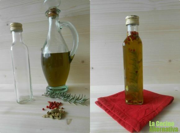 Receta de aceite aromático de romero, cardamomo y pimienta rosa - La Cocina Alternativa