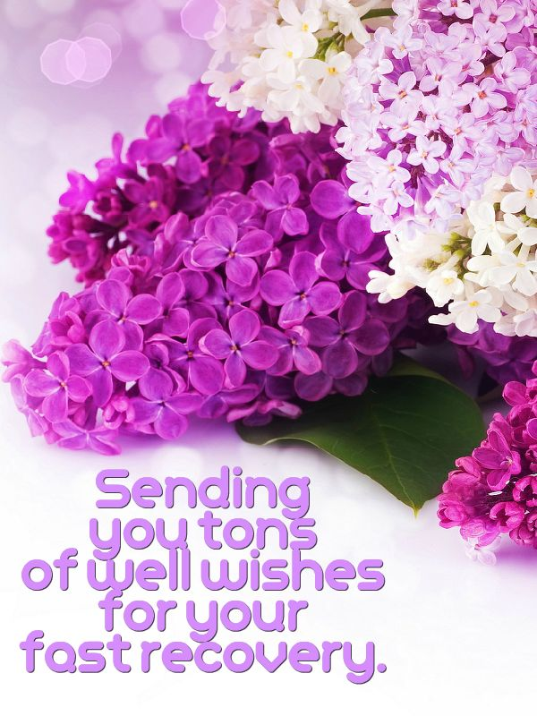 """Sending you tons of well wishes for your fast recovery. - For anyone who really needs this now, from someone who cares even though we've probably never """"met"""" - I was blessed to receive it myself earlier tonight (Feb. 11, 2016) from a dear friend & passing it along in the world. Hope you'll do the same if you can."""