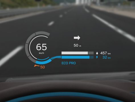 BMW i8 Head-Up Display