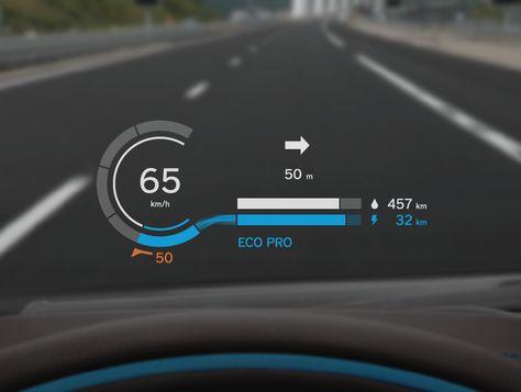 BMW i8 Head-Up Display
