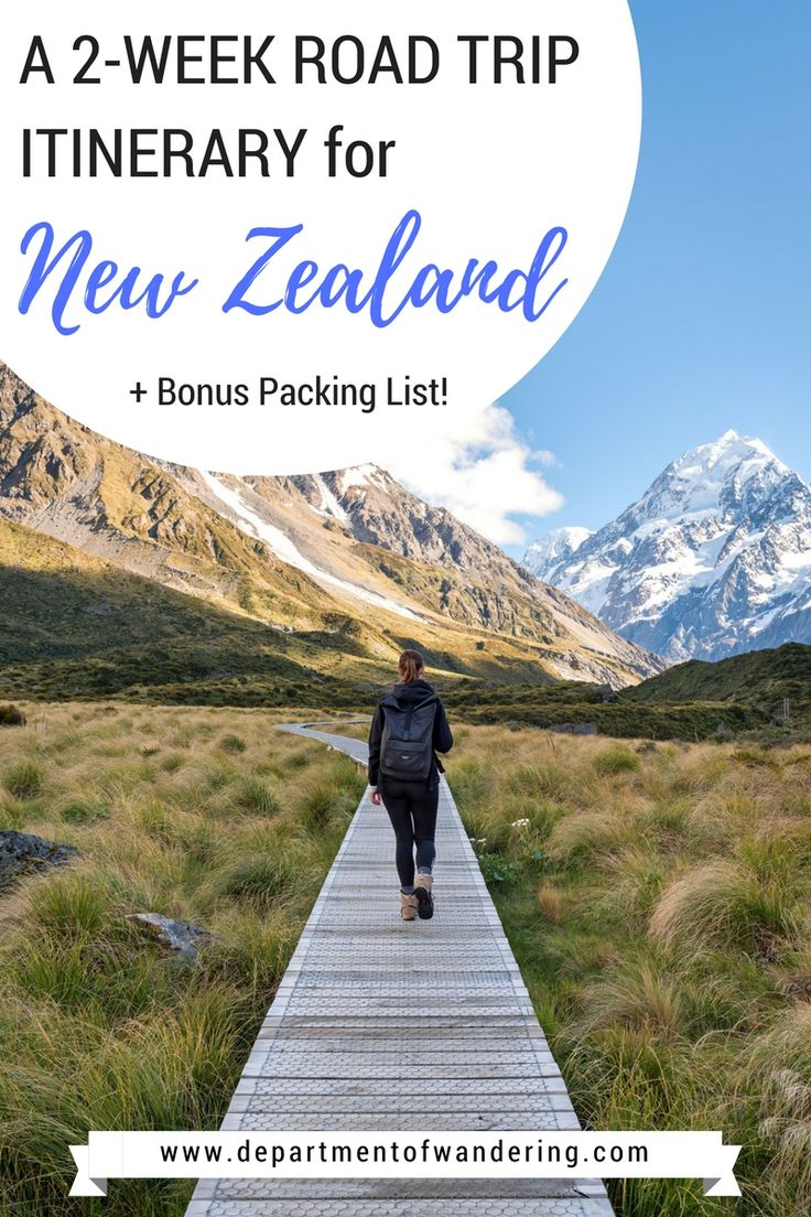 Hit the open road with this epic two-week road trip itinerary in New Zealand's South Island!