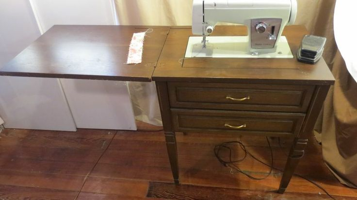 Vintage Sears Kenmore Cabinet Sewing Machine Table Model
