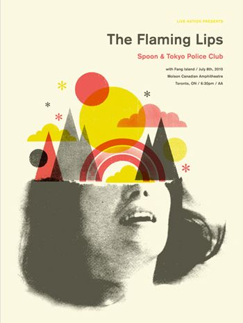 Flaming Lips Gig poster by Doublenaut