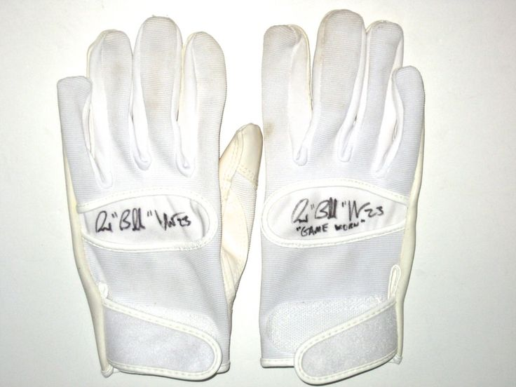 Bubba Ventrone San Francisco 49ers Game Worn & Signed White Cutters Gloves